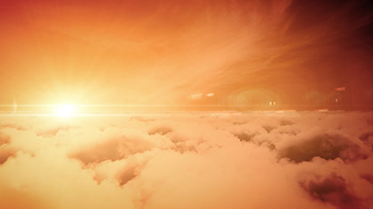 Flying Over Clouds Sunrise