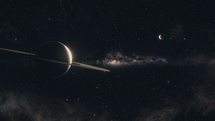Interstellar Dark Saturn
