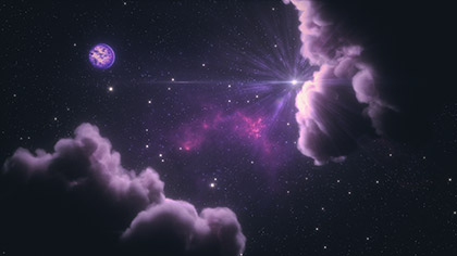 Interstellar Purple Clouds