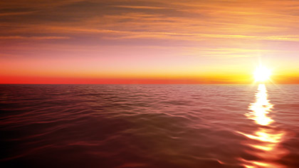 Ocean Horizon Sunset