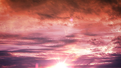 Pink Clouds Sunset Flare