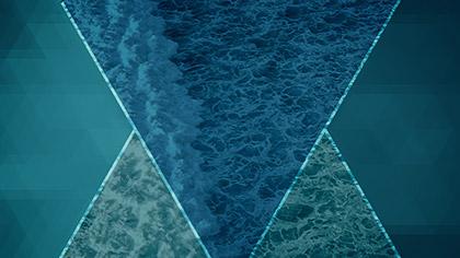 Prism Waves Rolling Blue