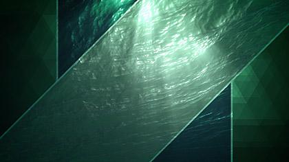 Prism Waves Underwater Green