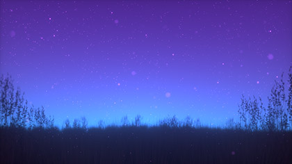 Summer Fireflies Blue Purple Field