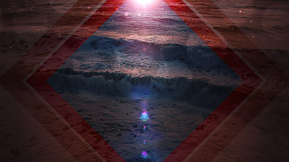 Summer Waves Blue Red