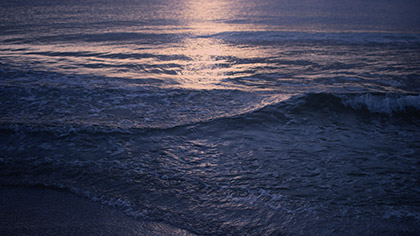 Sunset Surf Blue Gold