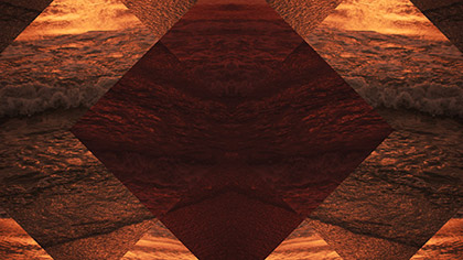 Surf Remix Gold Red Diamonds