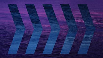 Surf Remix Purple Blue Arrows