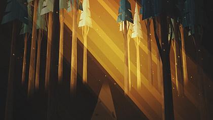 Winter Light Forest Rays