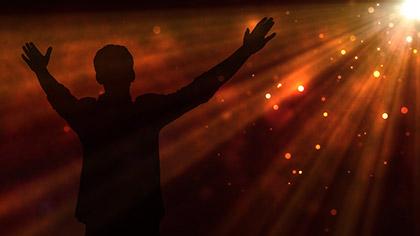 Fog Rays Gold Worship