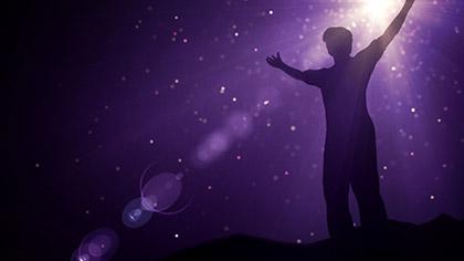 Particle Glow Worship Purple