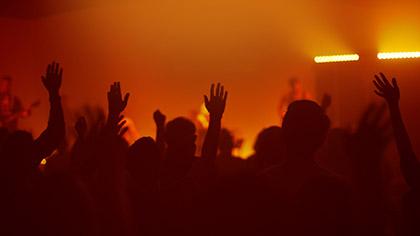 Worship Group Hands Orange