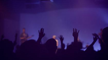 Worship Group Hands Purple