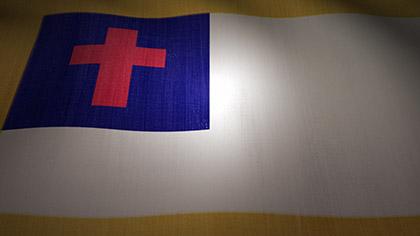 Christian Flag Waving