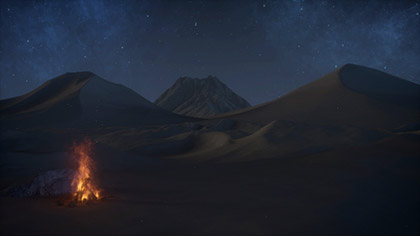 Desert Prayer Fire