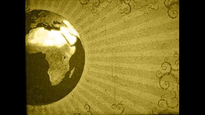 Gold Grunge Globe