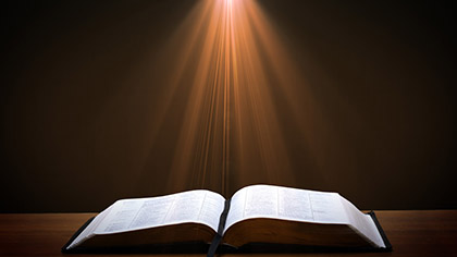 Open Bible Light Rays