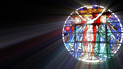 Stain Glass Crucifixion
