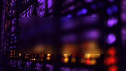 Stained Glass Purple Gold Blur