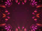 Crystal Patterns Orange Pink
