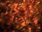 Fractal Flood Golden Orange