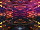 Polygon Cloud Glass Light Leaks