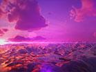 Polygon Glass Mountain Sunset