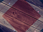 Rustic Wood Red Blue