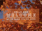 Fall Focus Welcome