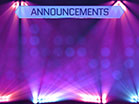 Stage Lights Announcements
