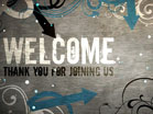 Welcome Flourish Frame
