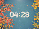 Digital Autumn Countdown