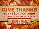 Give Thanks Countdown