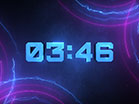 Neon Lines Dubstep Countdown