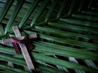 Silver Cross Palm Branches