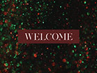 Christmas Glitter Welcome