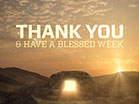Easter Sunrise Thank You