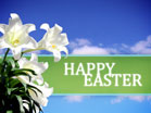 Happy Easter Lily Sky
