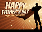 Happy Fathers Day Superhero
