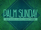 Palm Sunday Watercolors God Bless