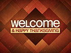 Plaid Patterns Thanksgiving Welcome