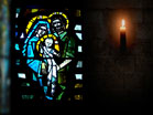 Stain Glass Nativity