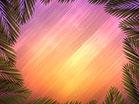 Vivid Fibers Palm Branch Circle