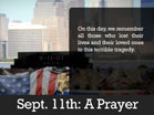 September 11th: A Prayer