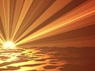 Digital Waves Summer Sunset