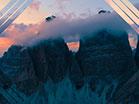 Sunset Aerial Dark Peaks