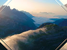 Sunset Aerial Mountain Fog