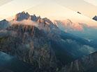 Sunset Aerial Reverse Flight