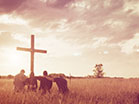 Worship Field Group Kneeling Cross