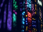 Stained Glass Colorful Lines